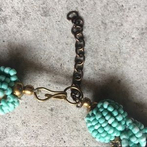 Jewelry - Beaded Turquoise and Gold Necklace